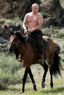 Vlad Putin Riding A Horse Shirtless