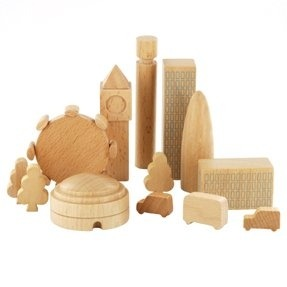 I love these wooden cities from MUJI Toys…wouldn't they make great gifts for your wanderlust friends? This is London (love that London Eye!), check out Paris and Toyko, too…and of course New York City!