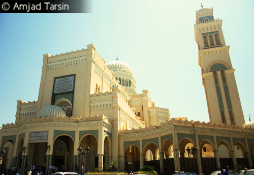 Jami' ad-Da'wah al-Islamiyyah This mosque, one of the biggest in Tripoli, was only a few blocks away from my grandfather's house. During Ramadan the mosque was so full that it was sometimes hard to find a place to pray.  Copyright Amjad Tarsin 2010