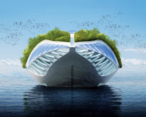 From PopularScience: The Future of Green Architecture: A Floating Museum  (click photo) -j