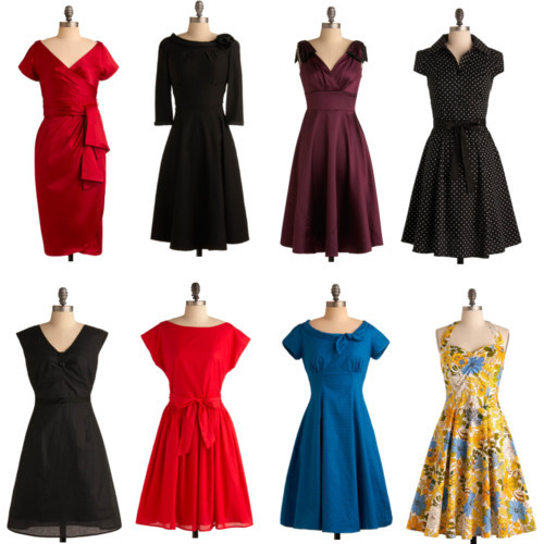inthethickofit:  I know a lot of you are looking for Holiday dresses and I just wanted to turn your attention to Mod Cloth's line of pretty dresses.  These all go up to size 2x, and most to size 3X. All they really need is some fabulous shoes, a big cocktail ring and a pretty clutch and you're ready to SHINE! Mod Cloth Holiday Dresses - Motion Picture Siren Dress | Mod Retro Vintage Solid Dresses |…$170 - modcloth.comStop Staring! dresses » Plum Perfection Dress$170 - modcloth.comVintage inspired dress » Destined for Stardom Dress$108 - modcloth.comCouture dresses » Red-y or Not Dress$100 - modcloth.comSash dress » Cookout Queen Dress | Mod Retro Vintage Dresses | ModCloth.com$100 - modcloth.comVintage style dresses » A Dress for the Ages$90 - modcloth.comParty dresses » Hepcat Dress in Black Licorice$50 - modcloth.comVintage clothing dresses » On the Job Dress | Mod Retro Vintage Solid Dresses | ModCloth.com$115 - modcloth.com