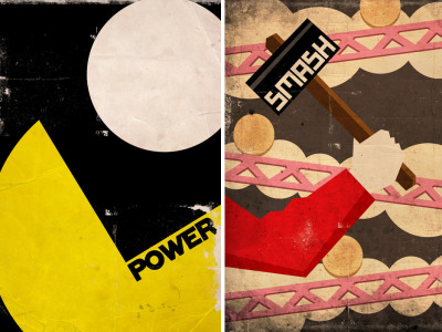 it8bit:  Retro Power-Up Product Posters - by Brian Altano and Brian Miggels.