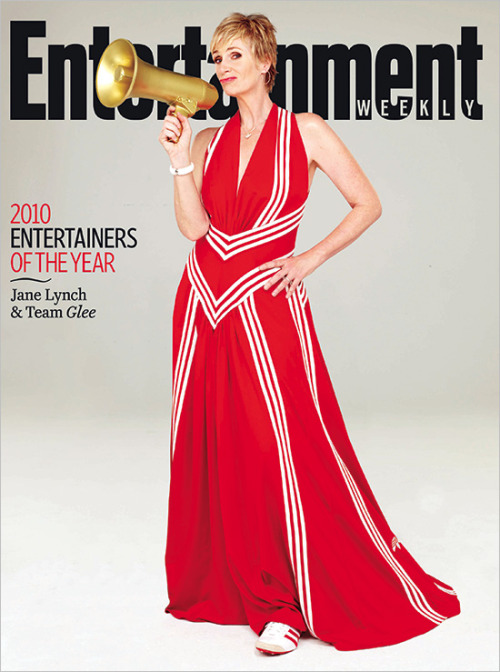 Track suit chic Glee's Jane Lynch is one of EW's Entertainers of the Year. See who else made our list — and more bonus covers, featuring Jon Hamm (Mad Men) and Rico Rodriguez (Modern Family) — at EW.com.