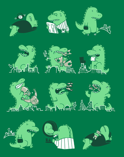 """A Day in the Life"" - Threadless.com"