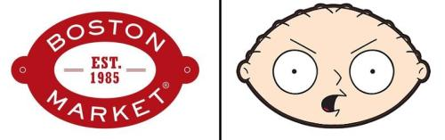 Cannot Unsee: Boston Market Logo vs. Stewie Griffin's Head (Submitted by Aaron L.)