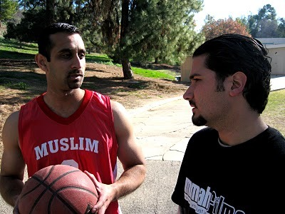 "Ali Ardekani (left) plays for Team Muslim, but he also got a ""plays well with others"" comment on his report card."