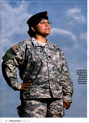 US Army reservist Shareda Hosein proudly wears her uniform. Even as the Army continually turns down her application to be the first female Muslim chaplain in the military, Shareda has no regrets about the 20+ years she's dedicated to her service. [article]