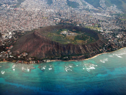 theespacecadet:  shawnasaurus:  isliehawaii:  Diamond Head Crater-Oahu  That's Wussup! Hawaii stand up.  Eia Ka Manawa No Kea Ano Ku'e