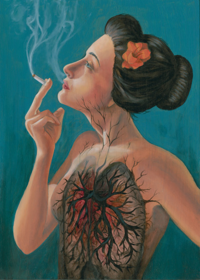 "jennjacobs:  ""Smoking Hot Mess"" by Jennifer Jacobs 2010 (oils on board)"