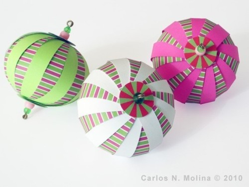 DIY Paper Ball Kit Candy Stripes by PaperArtbyCNM on Etsy