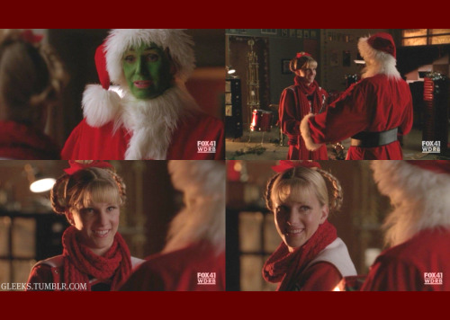 ♥♥♥ Brittany :) gleeks:  BRITTANY: Santa?SUE: Why, Brittany! What are you doing here?BRITTANY: I'm bringing a gift to put under the tree for the homeless kids. It's a dollhouse. At least their dolls won't be homeless.