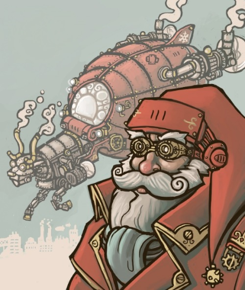 pandrewshaner:  Steampunk Santa by ~CyborgNecromancer