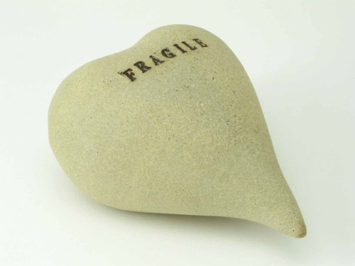 ceramic balloon heart - fragile by bridgemanstudios. a very inspired sculpture!!