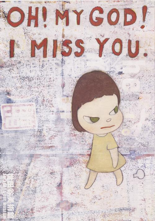 Yoshitomo Nara - Oh! My God! I Miss You, 2001