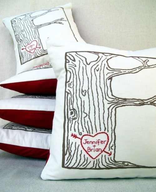 custom tree heart pillow  click pic
