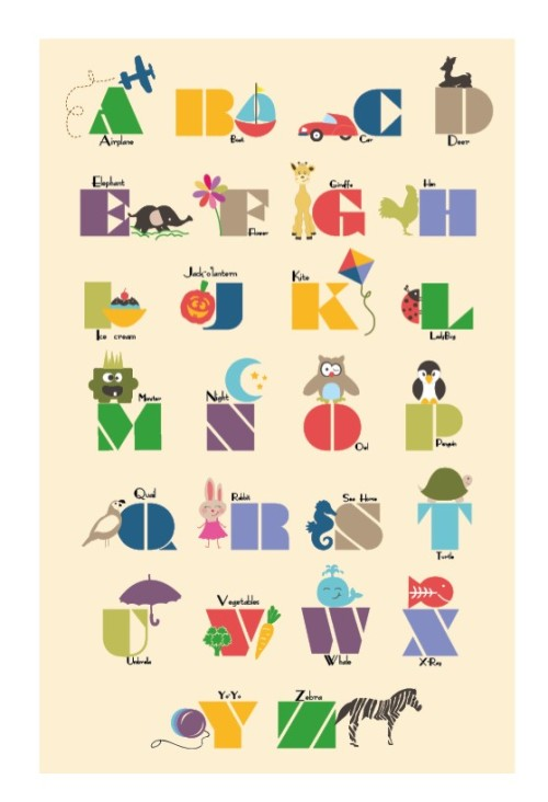 alphabet art by HoneyBunny a local etsy artist click pic