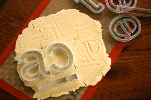 Helvetica Cookie Cutters via