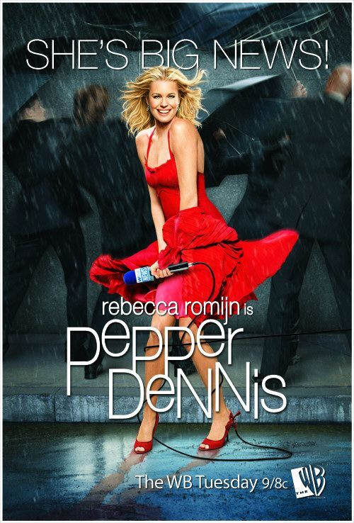 "The WB Reject Project: Pepper Dennis In 2006, The WB aired a television series starring Rebecca Romijn (just after she stopped rocking the Romijn-Stamos, natch) as the eponymous Pepper Dennis, a big fish in a small television journalism pond. Hilarity, of course, ensues as a post-Ally McBeal/pre-Cougar Town Josh Hopkins swoops in as the new lead anchor at her news station. Spoiler alert: sparks fly! Sadly, Pepper Dennis only lasted for 13 episodes. But hey, it was the last new WB series ever, and that means something. Reasons this show should've never been canceled: The poster.Caroline: THERE'S NO GRATE. WHERE IS THE WIND COMING FROM? Me:  That's why ""SHE'S BIG NEWS."" Pepper Dennis is MAGIC. Lindsay Price: ""Pepper, you can't schedule things like love!""Pepper: ""Everything's on a schedule if you want it to be."" Me: ""PEPPER DENNIS IS A ROLE MODEL."" Pepper's Boss (re: Canadians): ""I gotta tell ya, audiences just seem to love them!""Me: ""Get outta my dreams and into my car!"" In the opening teaser of the pilot, Pepper Dennis assaults a woman with a newspaper. It's GLORIOUS. Post-Boy Meets World Rider Strong playing a bumbling (I repeat — Shawn Hunter as bumbling) camera guy secretly in love with Pepper Dennis. Rebecca Romijn singing ""Listen to Your Heart."" Which you can witness, here. Pepper Dennis is like a (Katherine Heigl) romantic comedy, only it lasts thirteen hours instead of the standard hour and a half. Reasons this show was canceled: Brooke Burns (see North Shore, Miss Guided, and Melrose Place 2.0 for more details) Lindsay Price (see Coupling U.S., Lipstick Jungle, and Eastwick for more details) Brooke Burns' need to star on shows with her North Shore brethren. In this case, it was Josh Hopkins. (In Miss Guided, it was Kris Polaha.) Rebecca Romijn willingly working with Lindsay Price, of Coupling U.S. fame, TWICE. (Because she's really clairvoyant and knew she would be doing Eastwick with her in the future.) All of the reasons this show should've never been canceled (see above). Probably something about ratings or something… 7th Heaven needed all the seasons. So should you bother watching this WB reject? Yes. (Luckily, all of the episodes can be found on Youtube, right here.) There's still so much more to ""love"" about this series that I haven't even gotten into. But you should get into it. And you should report back with thoughts, comments, and concerns."