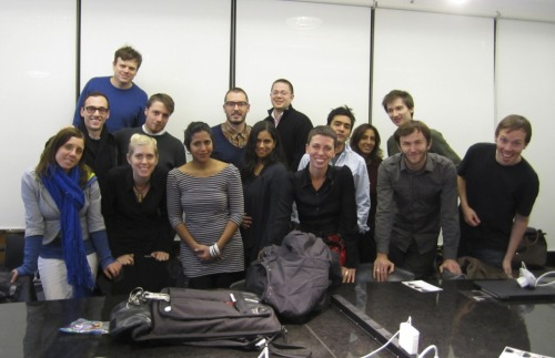Final class photo! More on our final presentations soon (and thanks to Fred's camera for the picture)—