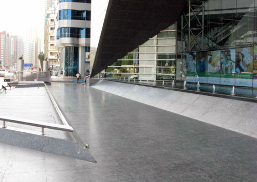 one of many skate spots in one of the fastest growing countries in the world, Dubai. Man I want to visit that place!