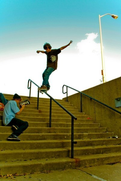 This is how it goes down in detroit! Nollie front feeble