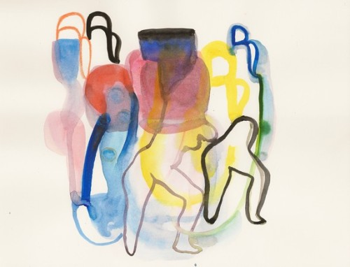 This makes me want to move. Choreography, an original watercolor by Annamariapotamiti.
