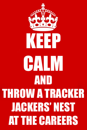madameshi:  Keep calm and throw a tracker jacker's nest at the Careers.