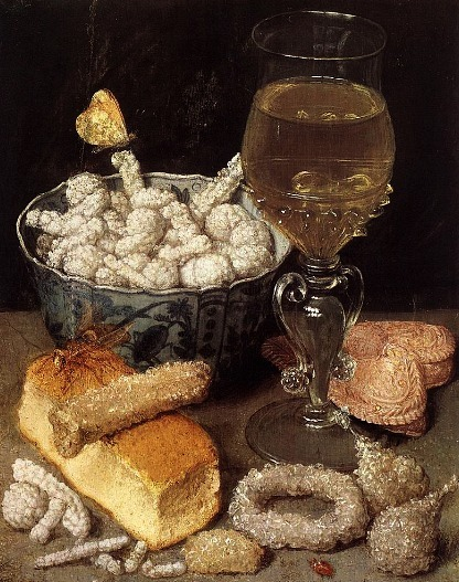 Georg Flegel Still Life with Bread and Sweets 1637
