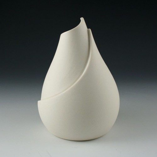 Kim Westad: Small Naked Curved Vase