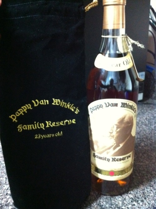 Pappy Van Winkle Family Reserve 23 Year Old Bourbon. Our distributor had one bottle, and we got it! This fantastic bourbon was voted Spirit of the Year for 2010 by Wine & Spirits Magazine, one of the most respected publications in the liquor/wine/spirits industry. Only 3000 bottles were made. The rarest of the rare! This is sippin' bourbon. Don't cut it with water, don't order it in a Manhattan. Just drink it neat (or on the rocks, but only if you must). Spend an hour with it. It will be a transcendent experience. Available NOW at the Firefly Grill…get it while it's still there!