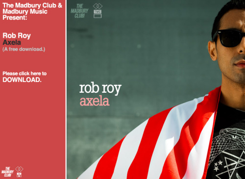 "madburyclub:  The Madbury Club & Madbury Music & Rob Roy offer up ""Axela"" for your listening enjoyment. DOWNLOAD NOW!"