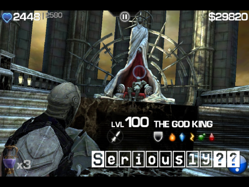 Level 100 God-King?? Seriously?? #infinityblade #iPhone #iPad
