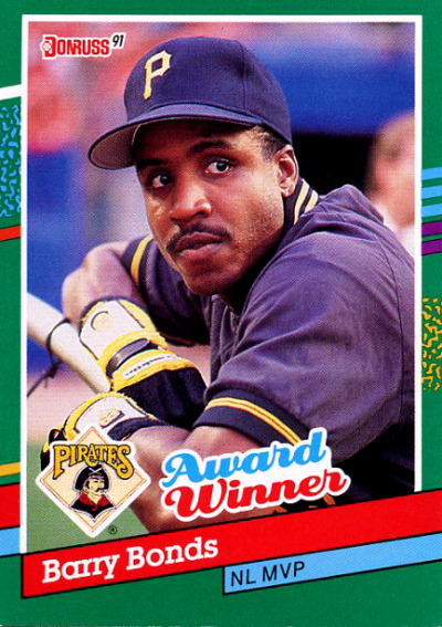 Barry Bonds NL MVP Card