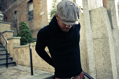 STREET ETIQUETTE UPDATE : Shawl Collar Pull over  ph. by Rog Walker