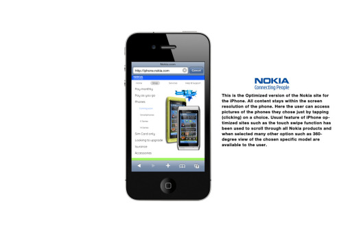 My Nokia Iphone site concept#1
