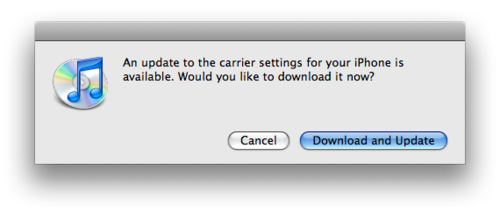 What are carrier settings? Is my iPhone an aircraft carrier? And why would I want this update? What happens if I do/don't install?