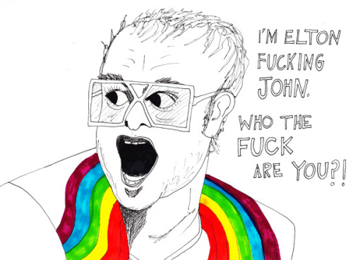 I will always have a special affinity to Elton John, he looks a lot like my father.