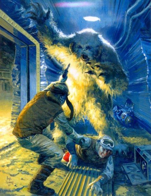 """Wampa Attack"" by Hugh Fleming, from Star Wars Insider #33 (1997)."