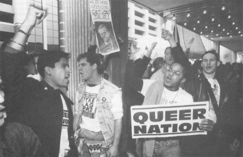 Members of Queer Nation protesting in New York, 1990s.