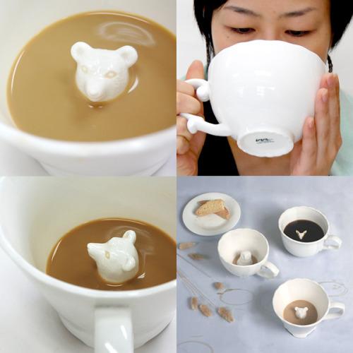 designersparadise:  Hidden Animal Teacup