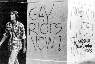 Graffiti in San Francisco after the White Night riots, 1979.