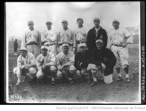 The New York Giants [équipe de base-ball en tournée à Paris en février 1914]