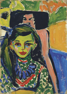 Fränzi in front of a Carved Chair (1910) Ernst Ludwig Kirchner from the Museo Thyssen - Bornemisza a favorite artist