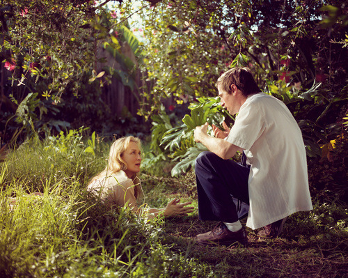 lednylon:  Director Spike Jonze and Actress Meryl Streep on set of Adaptation (2003).