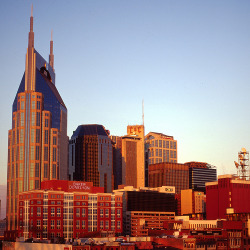 nashville-skyline:  Downtown Nashville Early Morning by Weldon Godfrey