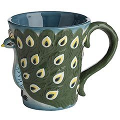 theplumagerie:  Peacock mug from pier one!  I definitely need this mug.