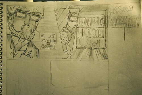Started working on that Dexter's Lab [20 year Later]  Comic strip.  This is what I've got so far