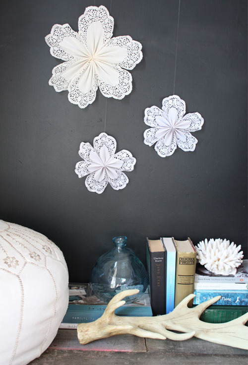 mysoohfaves:  diy: doily star decoration | the style files