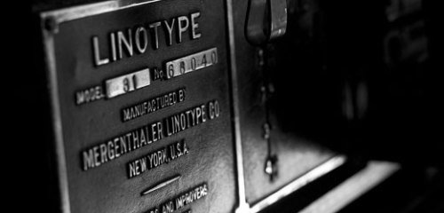 Linotype the movie. Trailer