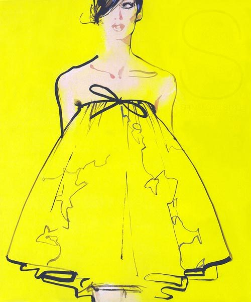 completely obsessed with the work of fashion illustrator David Downton. Mr. Downton has recently published a book entitled Masters of Fashion Illustration which chronicles the century's most brilliant fashion artists & includes a chapter of his own work. #justfantastic
